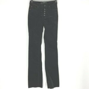 Joes Jeans Micro Flare Velour Button Fly